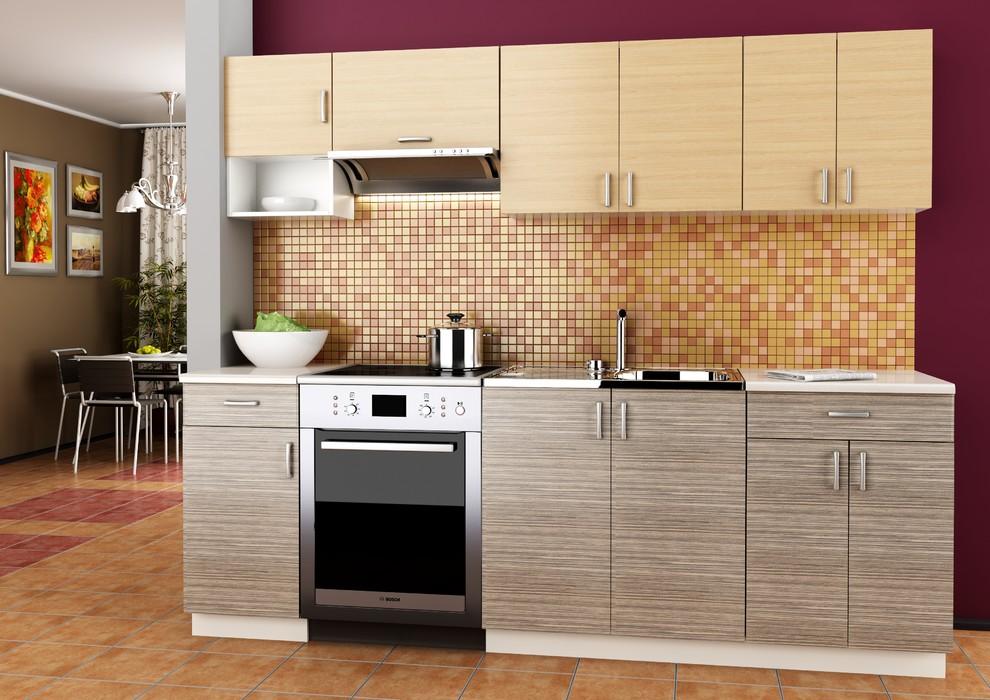 Grey Thermofoil And Tan Laminate Kitchen Modern Kitchen Denver By Modern Kitchens Of Denver By Kitchen Zilla