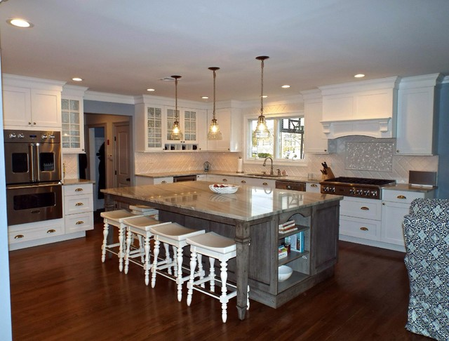 Grey White Great Kitchen Traditional Other Metro By