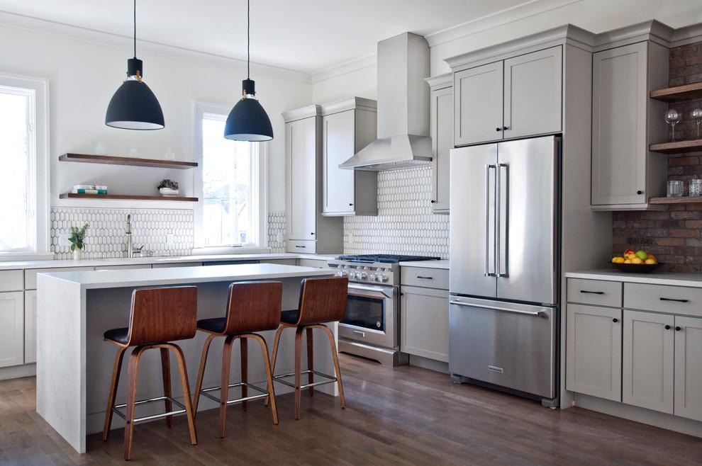 Greyish 12th South kitchen - Transitional - Kitchen ...