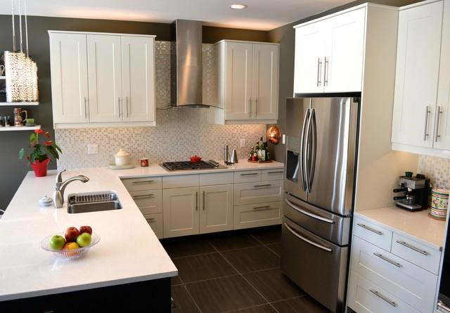 Grimslov Ikea White And Grey Kitchens Contemporary Kitchen
