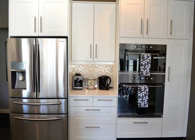 Grimslov (IKEA) white and grey kitchens - Contemporary - Kitchen - Vancouver - by IKAN ...