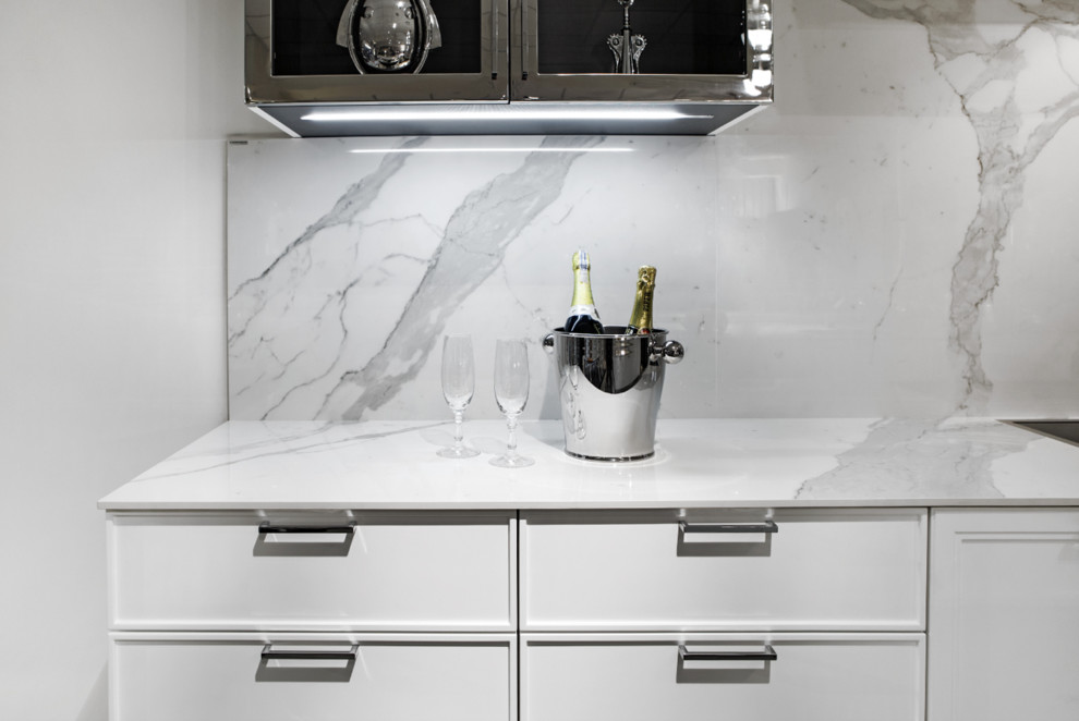 Grout Less Tile Splashbacks Contemporary Kitchen Perth By Wa Glasskote