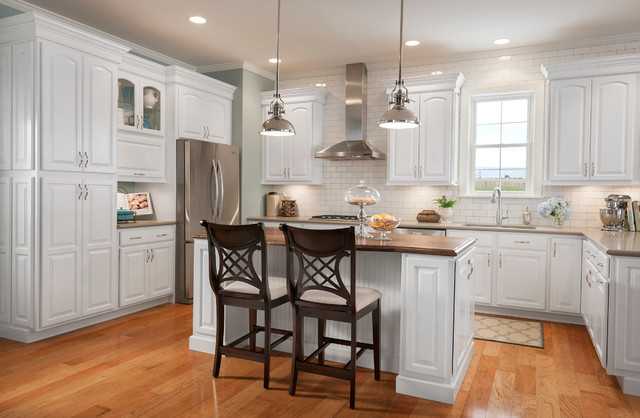 Grove Arch Painted Linen Traditional Kitchen Dc Metro By Shenandoah Cabinetry Houzz Au