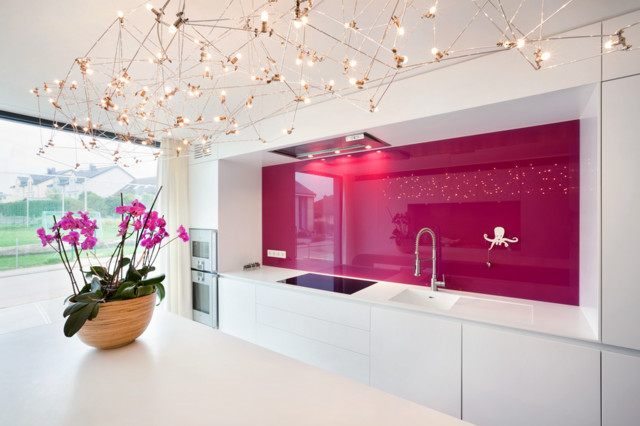 guardian decocristal back painted glass - modern - kitchen