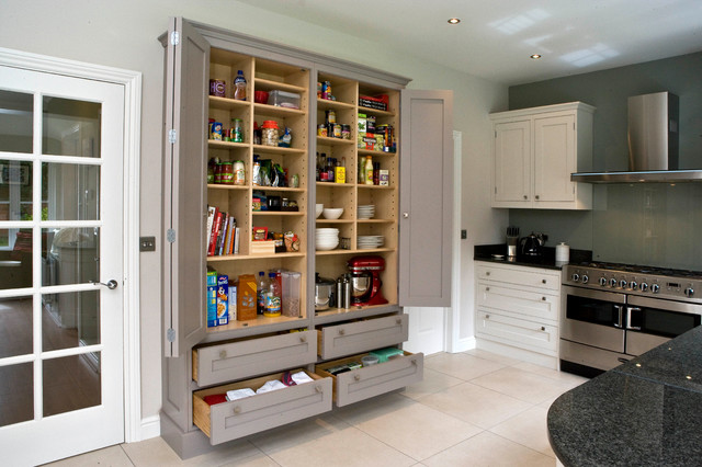 example of a trendy kitchen design in hampshire - Kitchen Wall Units Designs