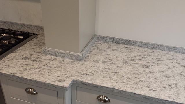 Attractive Guilford House In St. Cecilia White Satin Granite 30mm Contemporary Kitchen