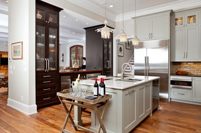 Partial Overlay White Kitchen Cabinets For Sale