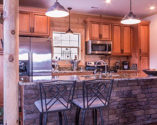 Rustic Galley Kitchen Design