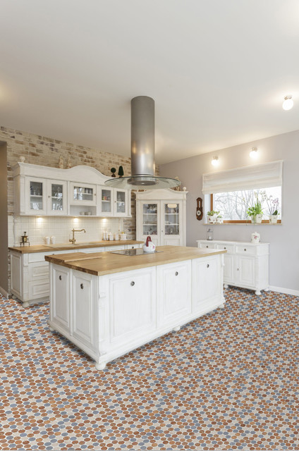 Kitchen Tiles Cork habitus cork mosaic tile color mix - farmhouse - kitchen - miami