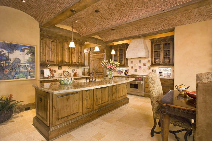 Kitchen - mediterranean kitchen idea in Houston