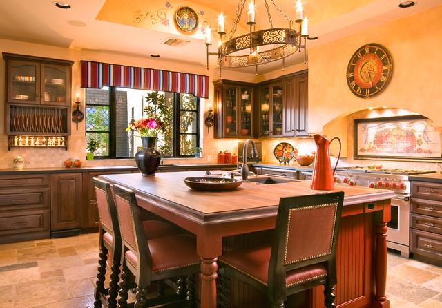 Hacienda style m diterran en cuisine phoenix par for Case in stile ranch hacienda