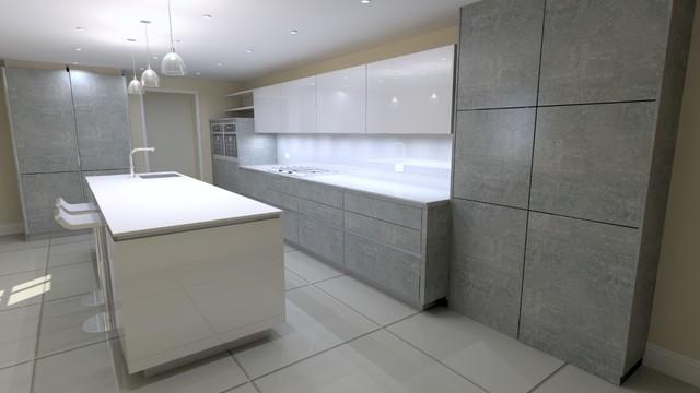 Hacker German Kitchen - Concrete & Polar White - Streatham ...