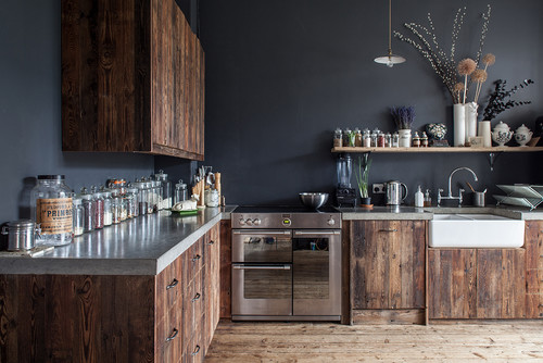 hackney downs rustic kitchen raw wood