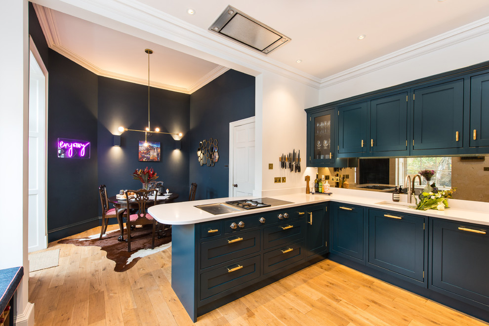 Hague Blue Shaker Kitchen Modern Kitchen Edinburgh By Sculleries Of Stockbridge