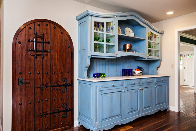Blue French Country Kitchen Winda  Furniture - French country blue