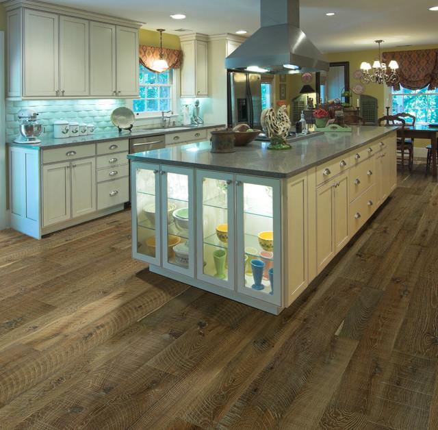 Hallmark Floors | Organic Gunpowder White Oak Engineered Hardwood Floors  Modern Kitchen