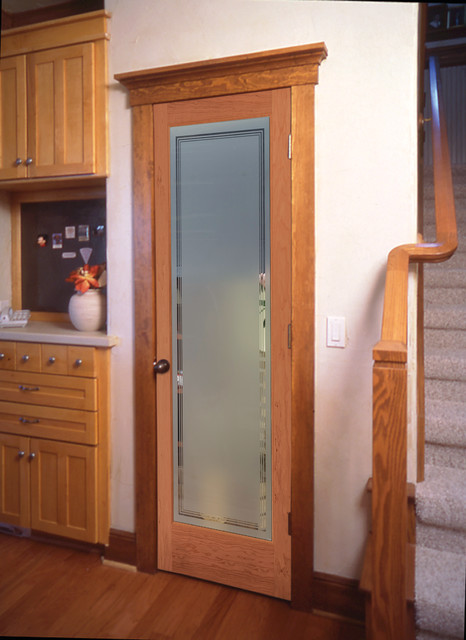 Hamilton Decorative Glass Interior Door Traditional