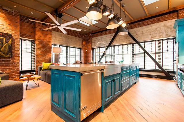 Hamilton eclectic industrial contemporary kitchen for Rooms interior design hamilton