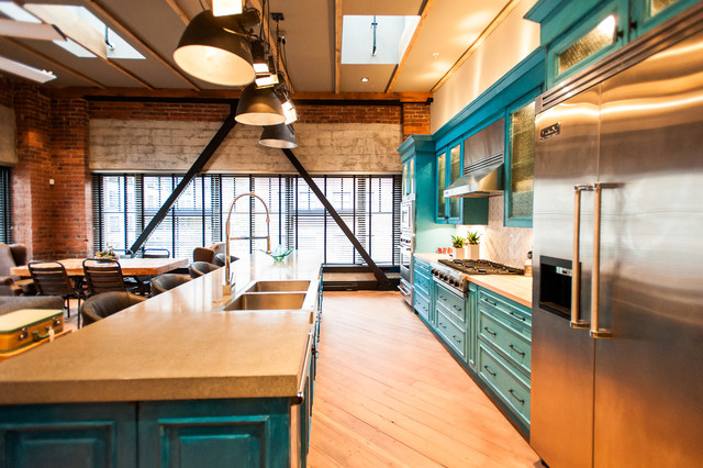 Eclectic Industrial Contemporary-kitchen