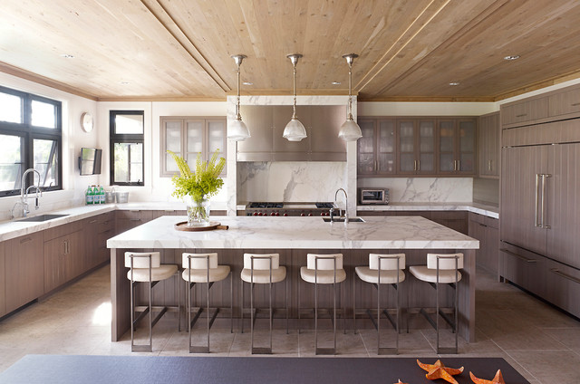 Hampton Beach House - Contemporary - Kitchen - new york ...