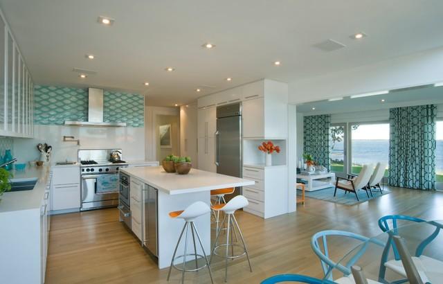 Hamptons House beach-style-kitchen