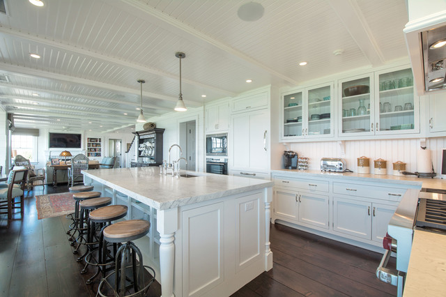 Hamptons kitchen beach style kitchen new york by hamptons habitat enterprises corp Kitchen design center virginia beach