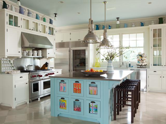 Hamptons, NY I - Transitional - Kitchen - new york - by ALICE BLACK INTERIORS