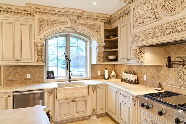 Astounding Ornate kitchen - Traditional - Kitchen - other metro - by WL INTERIORS
