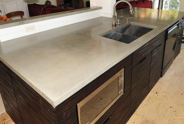 Hand Cast Concrete Countertops Modern Kitchen