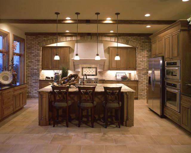 Hand Hewn Beam Kitchen Design Traditional Kitchen