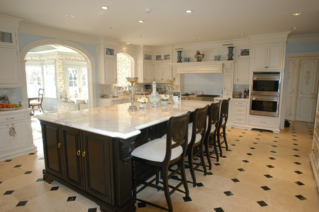 Hand Painted Kitchen traditional-kitchen