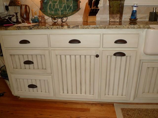 Hand Painted Kitchen Cabinetsmediterranean Charlotte
