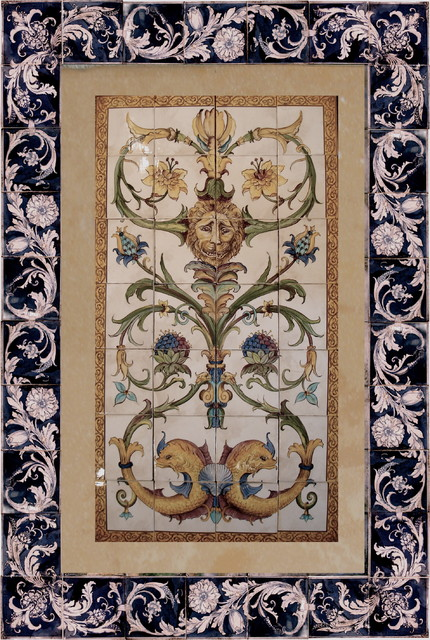Hand painted Tile Products mediterranean