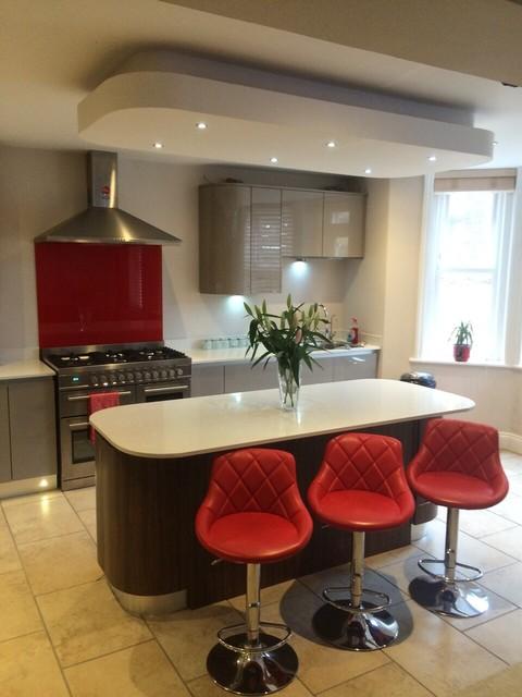 Handleless Super Gloss Kitchen Modern Kitchen Dorset By K And B Insta