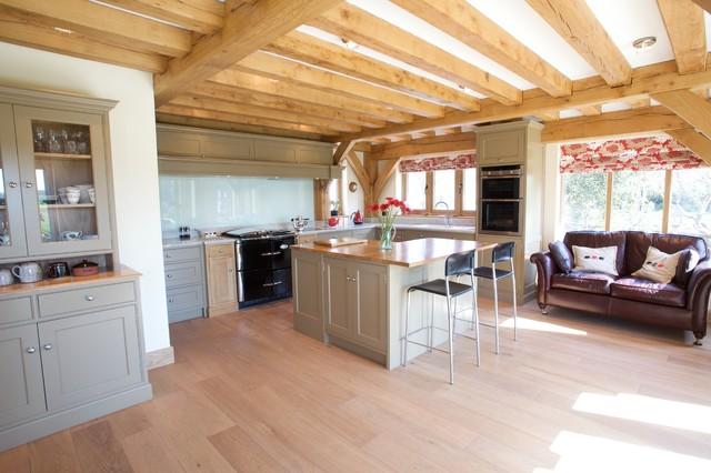 Painted Classic English modern-kitchen