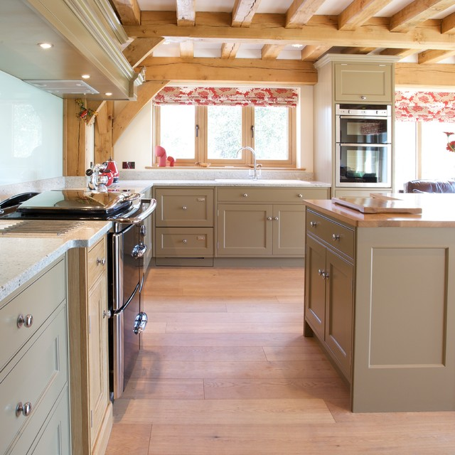 ... Free Standing Kitchen Cabinets By Painted Classic English Traditional  Kitchen London ...