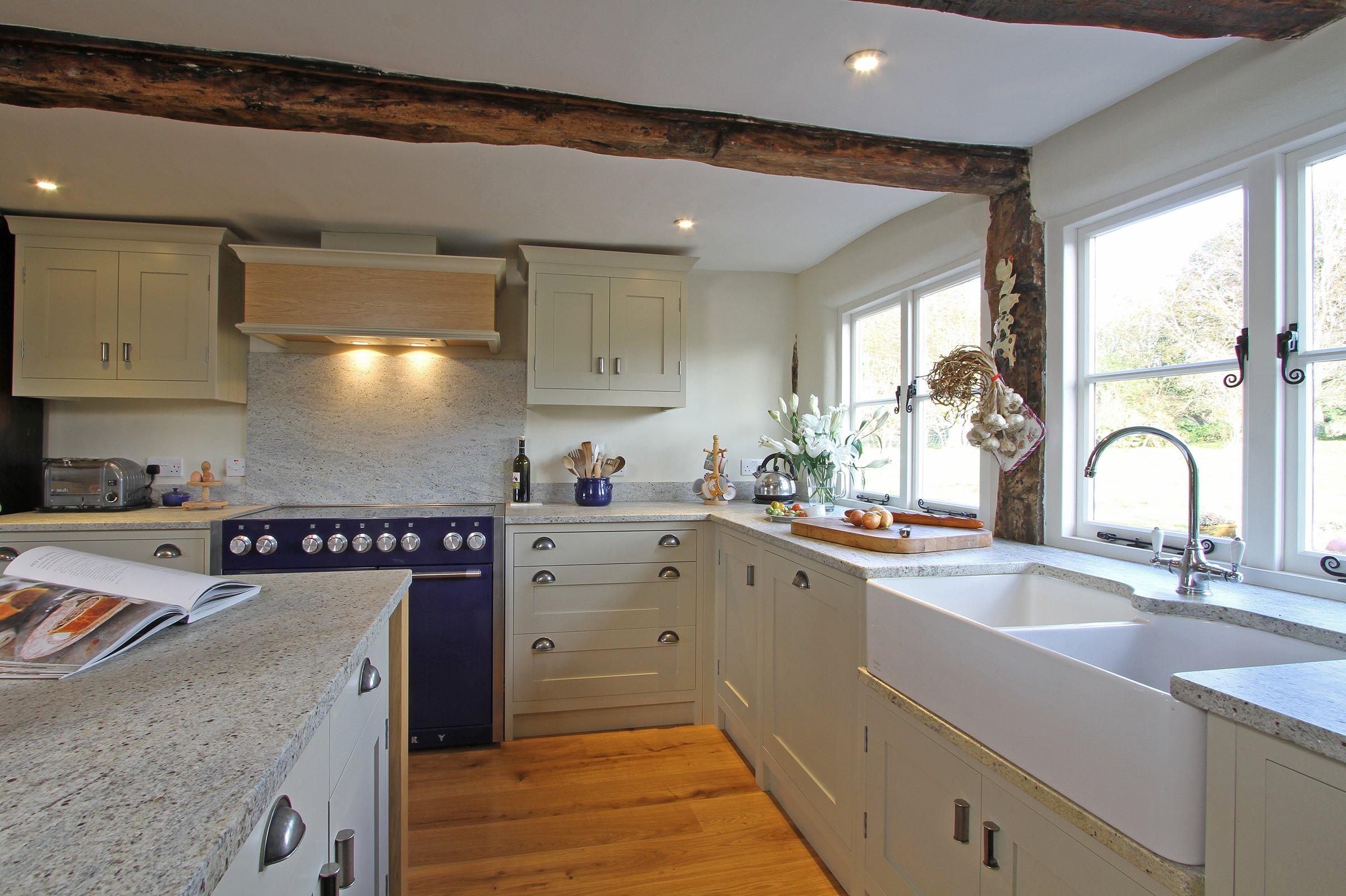 Handmade In Frame Kitchen In Old White Farmhouse Kitchen Hampshire By Bp Kitchens Interiors Houzz