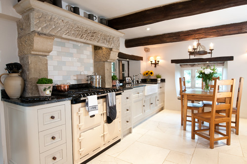 Aga Kitchen Design Uk what colour are the cabinets ? love the contrast with the cream aga !