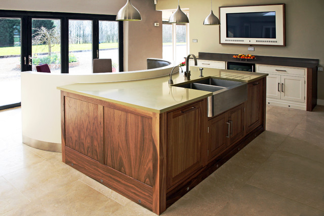Handmade Painted Black Walnut Kitchen Contemporary Kitchen – Black Walnut Kitchen Cabinets