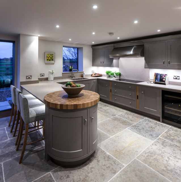 Handmade Painted Kitchen Contemporary