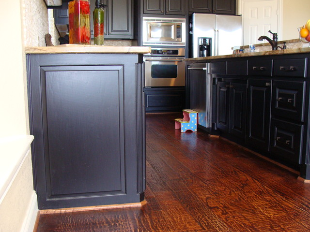 Handscraped Hardwood Floors Traditional Kitchen Other By Tile Stone Design Center