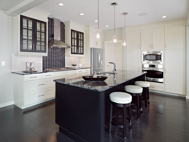 Handsome contrasts contemporary kitchen seattle by for Modern kitchen cabinets seattle