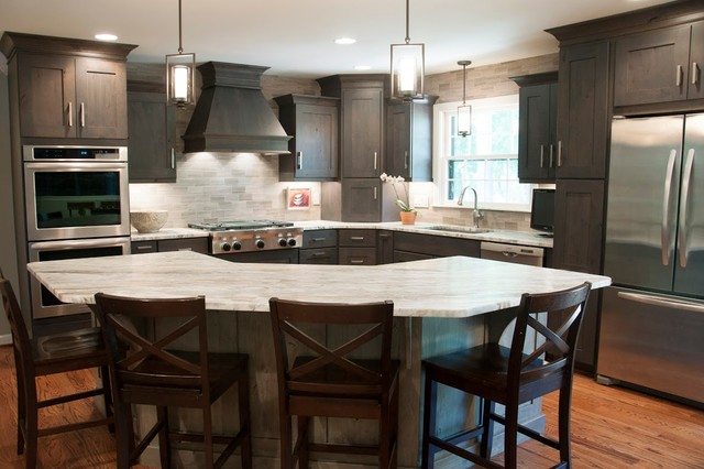 handsome in alder transitional kitchen nashville