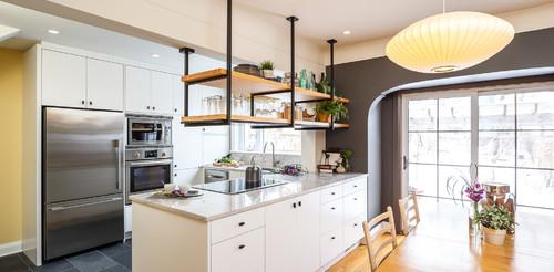 Hanging in Balance Kitchen Design    Astro Design Centre   Ottawa, Canada