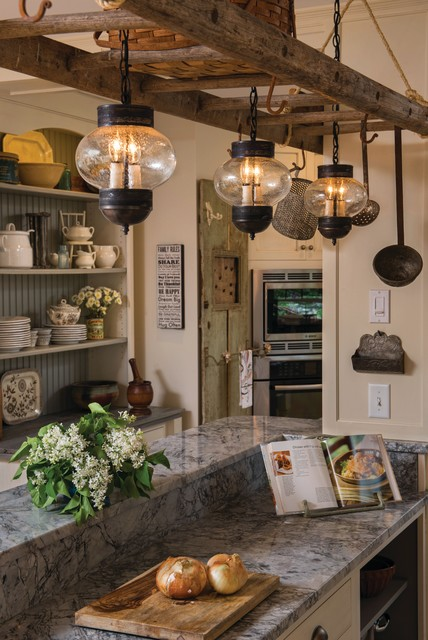 Hanging Lights Beach Style Kitchen Philadelphia By