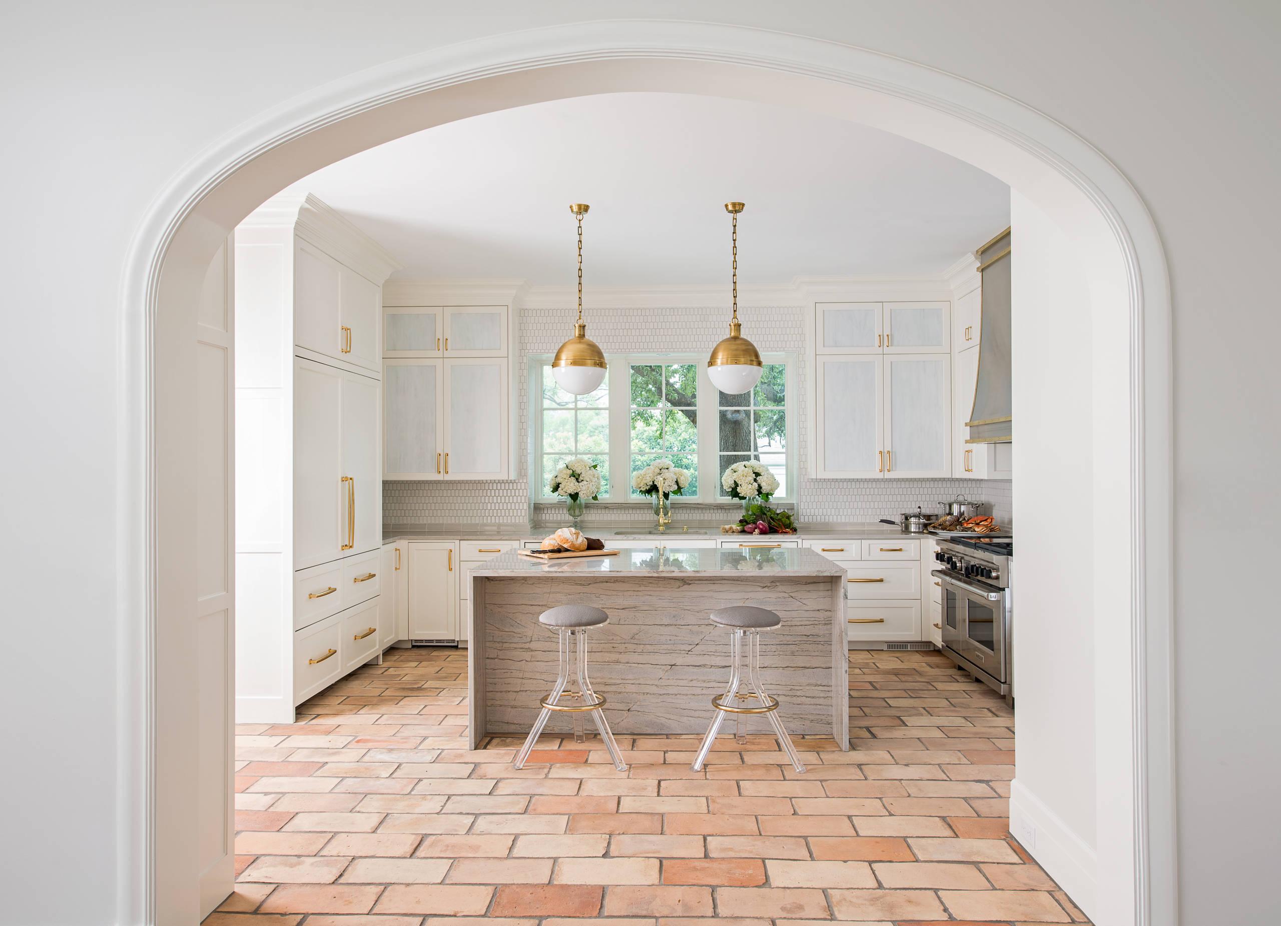 Terra Cotta Tile Backsplash Material Kitchen Ideas Photos Houzz