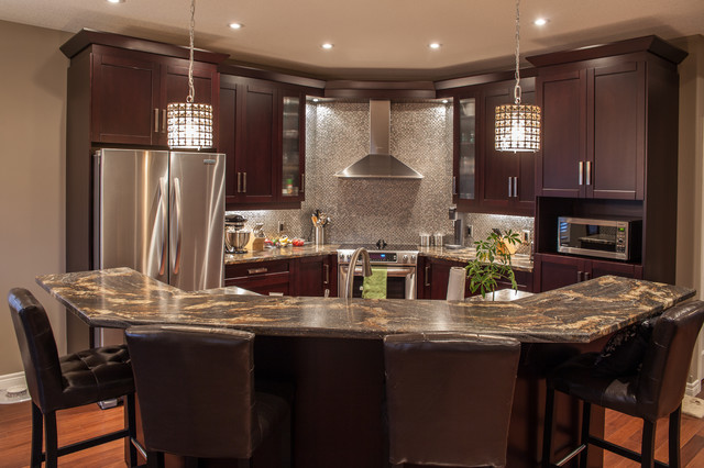 Hansen contemporary kitchen toronto by allen interiors design center inc Kitchen design center stove
