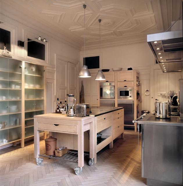 Luxury Industrial Kitchen: Kitchen In Maple