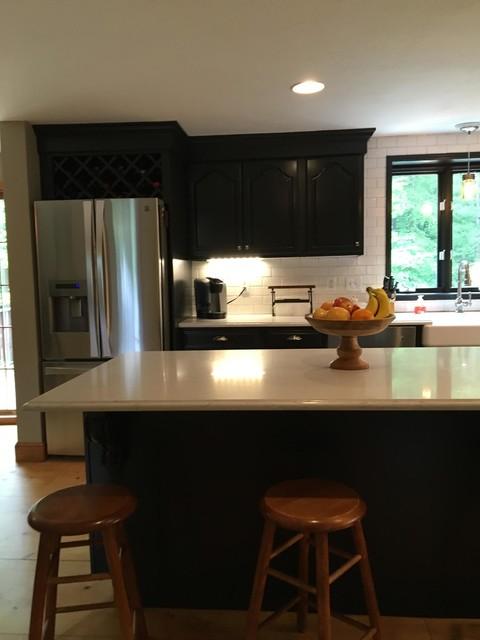 Hanson Black Cabinet Refinishing transitional kitchen