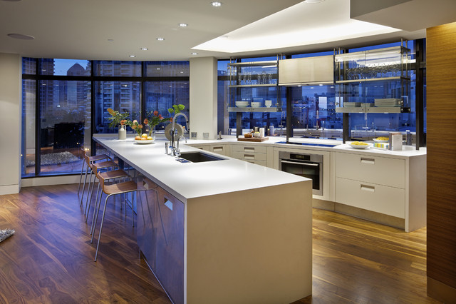 Harbor Club Residence contemporary kitchen
